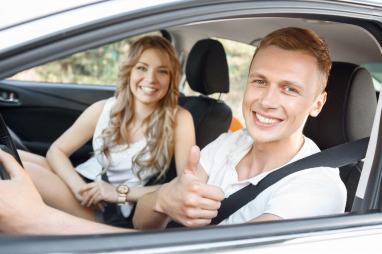 uber driver and customer