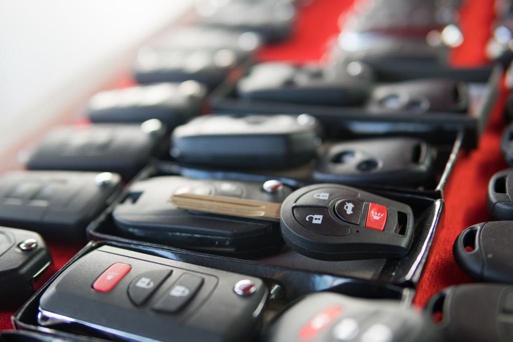 line of car keys